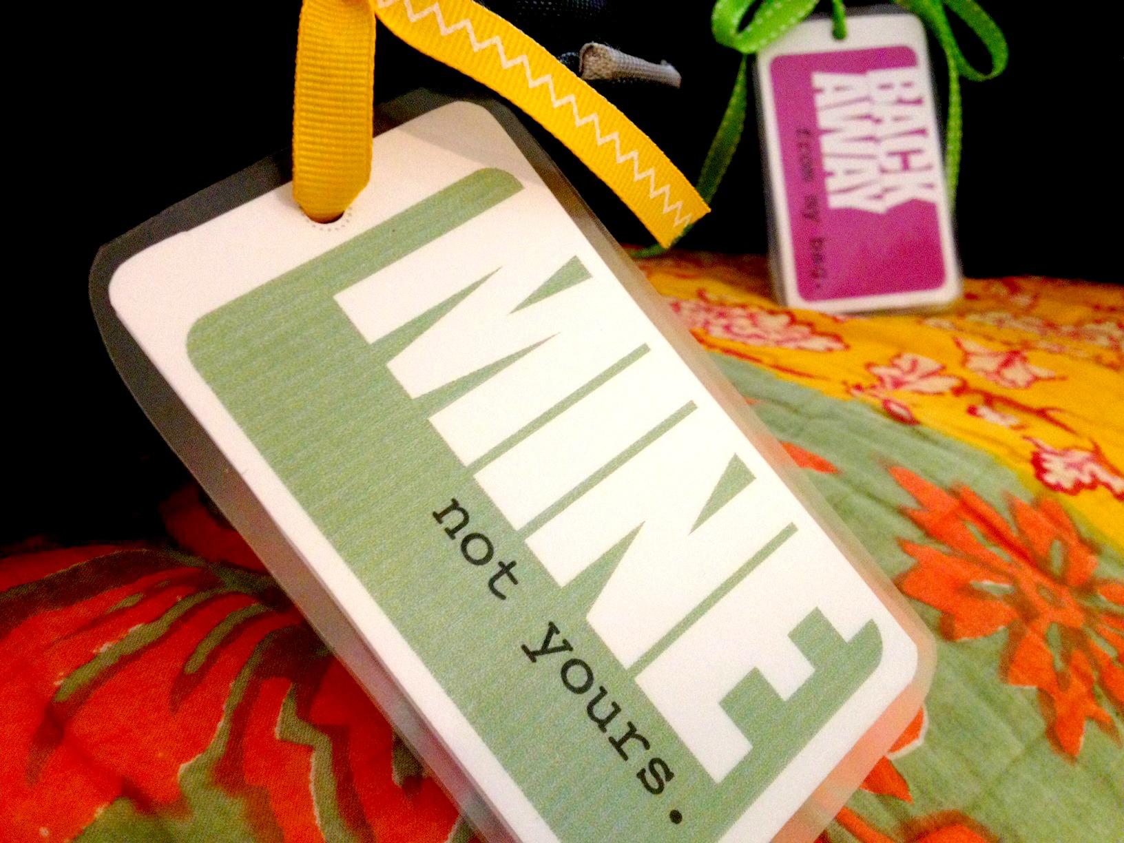 DIY Printable Luggage Tags - Travel name tag template
